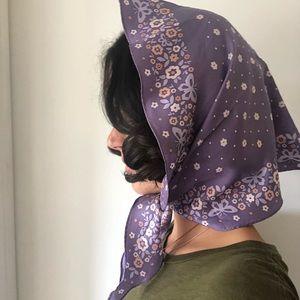 COACH silk lavender scarf